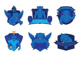 Panthers logo vector set