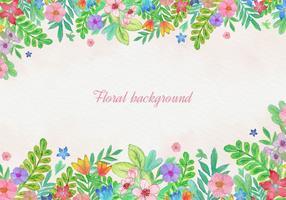 Carte Floral Aquarelle Gratuite vecteur