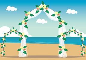 Illustration de mariage de plage vecteur