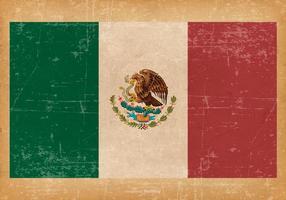 Drapeau grunge du Mexique vecteur