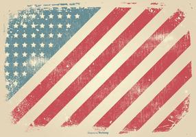 Contexte patriotique du style grunge vecteur