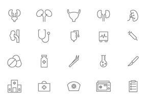 Urologie libre et vecteurs médicaux vecteur
