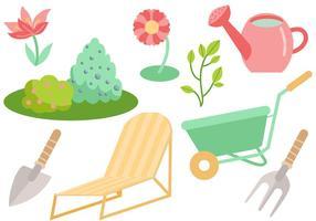Vecteurs de jardin gratuits vecteur