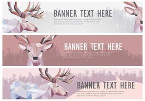 Web banner caribou vector