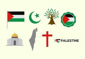 Icônes libres de vecteur de Palestine