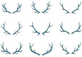 Elements de cornes de caribou vecteur