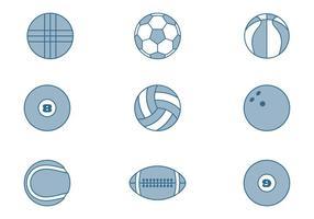 Collections de balles de sport vecteur