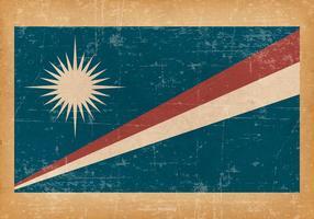Drapeau grunge des îles Marshall vecteur