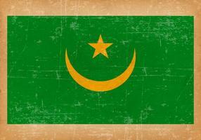 Drapeau grunge de la Mauritanie vecteur