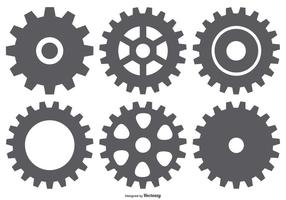 Collection Vector Gear Shapes