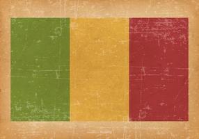 Drapeau grunge du Mali vecteur