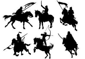 Icônes vectorielles de cavalerie