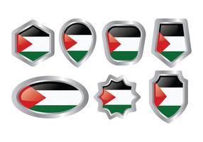 Icônes vectorielles de Gaza