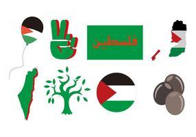 Vecteur libre des icônes de la Palestine