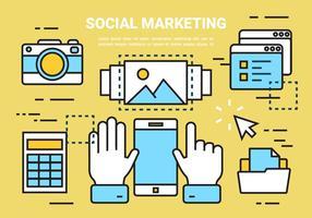Éléments linéaires gratuits de marketing social