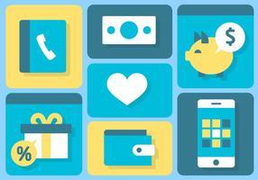 Vecteur de concept de médias numériques plats