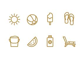Ensemble d'icônes de plage