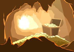 The Treasure In The Cavern Free Vector