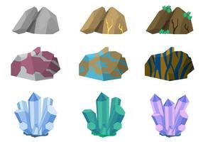 Collections de vecteurs d'éléments de caverne vecteur