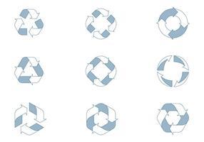 Icônes du cycle de vie vecteur