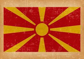 Drapeau grunge de la Macédoine vecteur