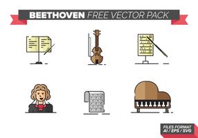 Pack de vecteur gratuit Beethoven