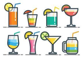 Icônes vectorielles Mocktail