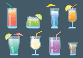Icônes vectorielles Mocktail vecteur