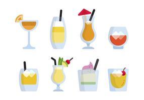 Vecteurs Mocktail Plats