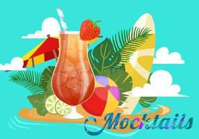 Mocktail d'été vecteur