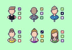 Vector d'icônes de formateur personnel