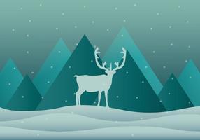 Caribou de neige vecteur