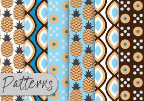 Ensemble de motifs ananas vecteur