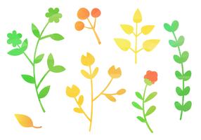 Feuilles d'automne gratuites d'aquarelle vecteur