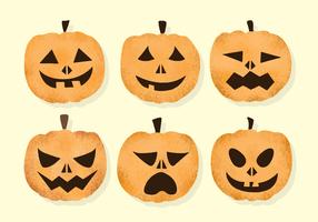 Citrouilles Grainy Halloween vecteur