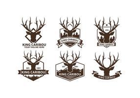 Caribou logos vecteur gratuit