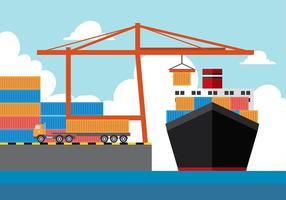 Vecteur libre de chantier naval