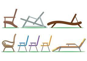 Ensemble de vecteur de chaise de pelouse
