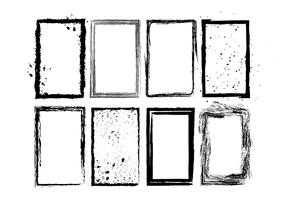 Cadres de photo photo grunge vecteur