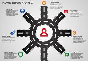 Feuille de route Vector d'infographie