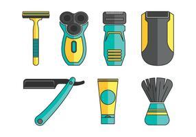 Ensemble d'icônes vectorielles de rasoir