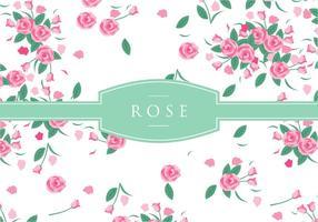 Pink rose disty pattern vecteur gratuit