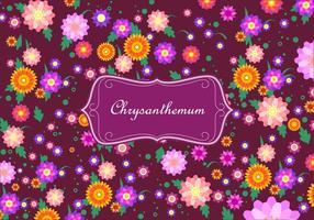 Chrysanthemum disty pattern free vector
