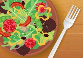 Entrées de salade de légumes vecteur