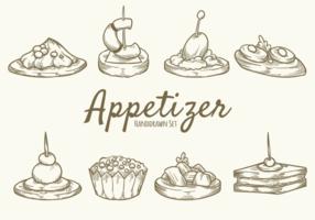 Dessert à la main Appetizer vecteur