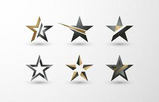 logo d'étoiles vecteur