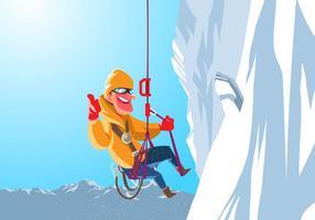 Un alpiniste se bloque sur une falaise