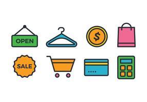 Icônes de magasin en ligne vecteur