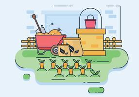 Étapes de traitement du compostage illustration vectorielle