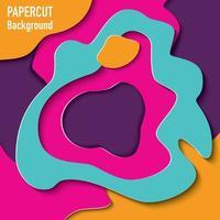 papier découpé fond avec effet 3d